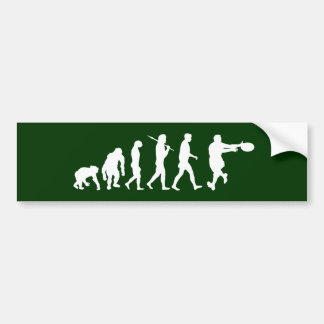 Rugby players backline passing tackling evolution bumper sticker