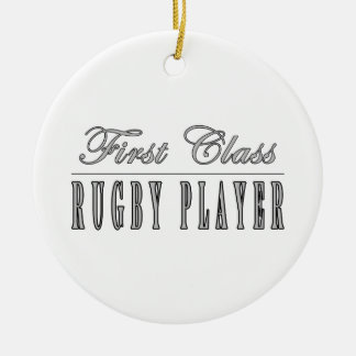 Rugby Players : First Class Rugby Player Christmas Ornament
