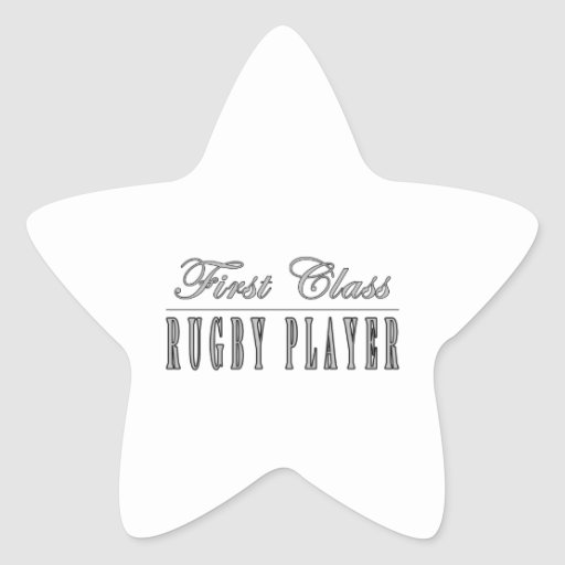 Rugby Players : First Class Rugby Player Star Sticker