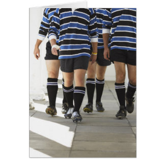 Rugby Players Greeting Card