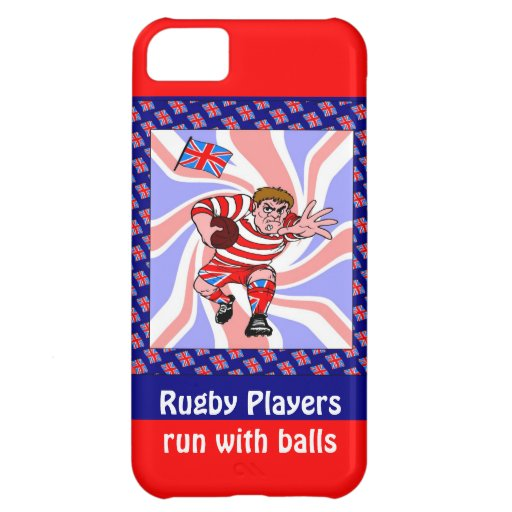 Rugby Players run with balls iPhone 5C Case