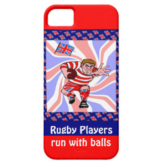 Rugby Players run with balls iPhone 5 Cover