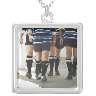 Rugby Players Silver Plated Necklace