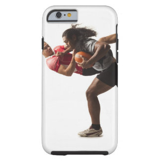 Rugby players tackling for ball tough iPhone 6 case