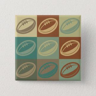 Rugby Pop Art 15 Cm Square Badge