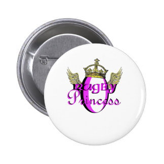 Rugby Princess 6 Cm Round Badge