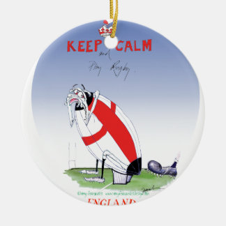 rugby - putting the boot in, tony fernandes round ceramic decoration