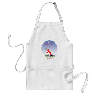 rugby - putting the boot in, tony fernandes standard apron