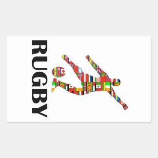 Rugby Rectangular Sticker