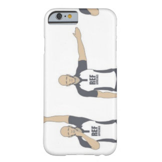 Rugby referee signalling penalty kick, free barely there iPhone 6 case
