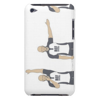Rugby referee signalling penalty kick, free barely there iPod case