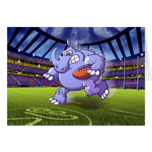 Rugby Rhinoceros Card