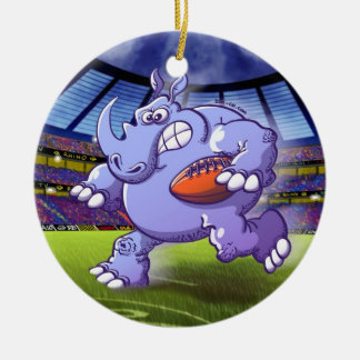 Rugby Rhinoceros Christmas Ornament