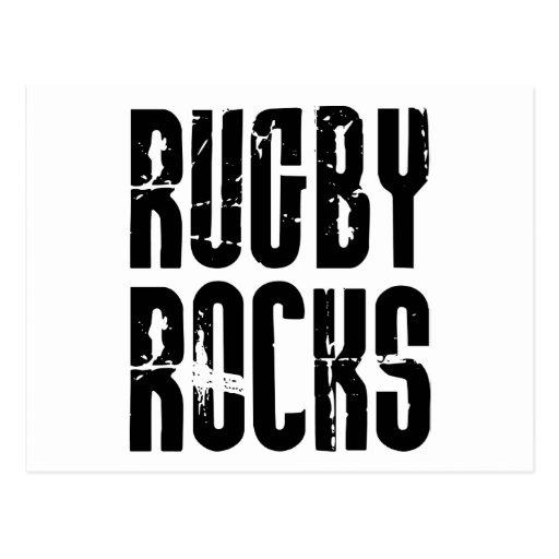 Rugby Rocks Postcard