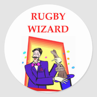 rugby round sticker