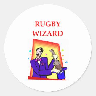 rugby round sticker