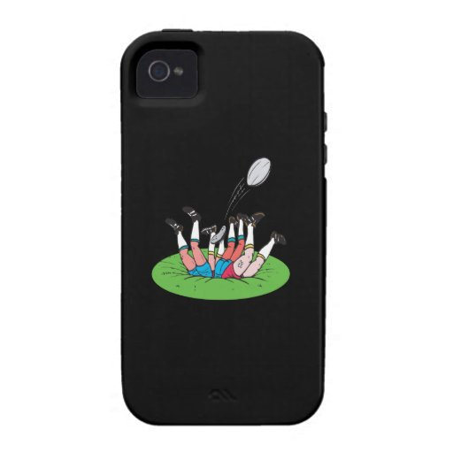 Rugby Scrum iPhone 4 Cases