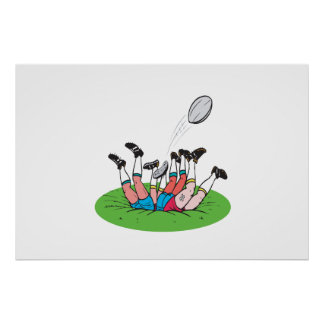 Rugby Scrum Posters