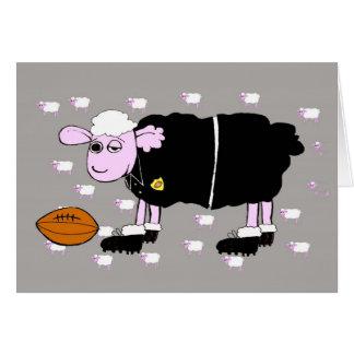 Rugby Sheep Card