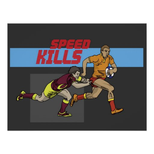 Rugby Speed Kills 3 Poster
