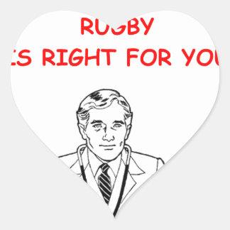 RUGBY HEART STICKER