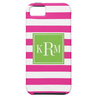 Rugby Stripes and Monogram iPhone 5 Covers