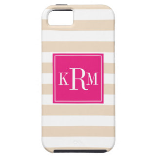 Rugby Stripes and Monogram iPhone 5 Case