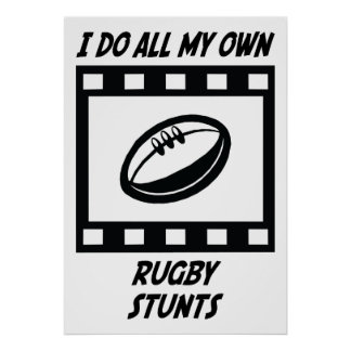 Rugby Stunts Posters