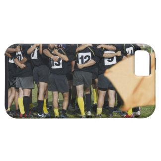 Rugby team standing in a circle iPhone 5 covers