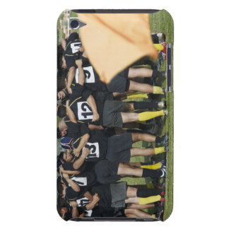 Rugby team standing in a circle iPod touch cover
