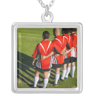 Rugby teammates silver plated necklace