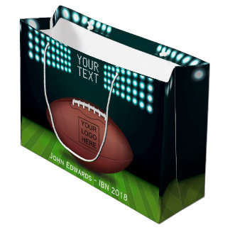 Rugby Themed add logo Large Gift Bag