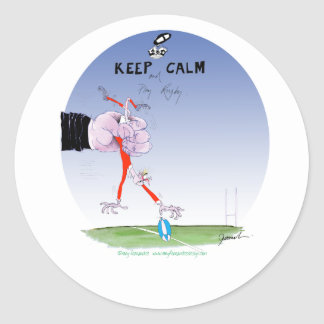 rugby tumble, tony fernandes round sticker