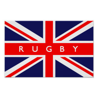 Rugby UK Flag Posters