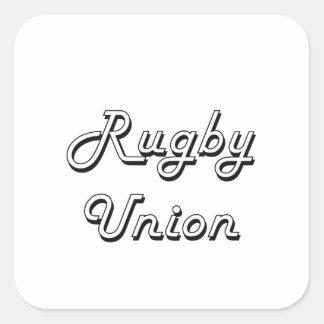 Rugby Union Classic Retro Design Square Sticker