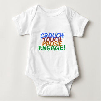 Rugby Union Crouch Touch Pause Engage Baby Bodysuit