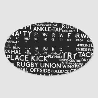 Rugby Union Gifts Oval Sticker