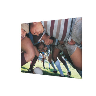 Rugby Union Players in a Scrum Canvas Prints
