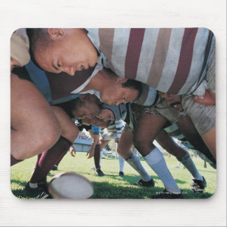 Rugby Union Players in a Scrum Mouse Mat