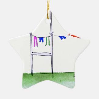 rugby wash day, tony fernandes ceramic star decoration