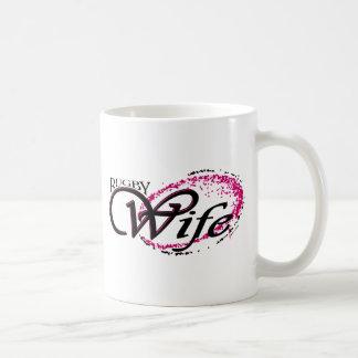 rugby wife basic white mug