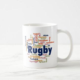 Rugby Word Cloud Basic White Mug