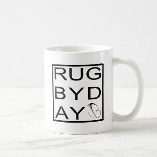 rugbyday basic white mug