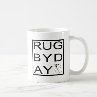 rugbyday classic white coffee mug