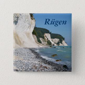 Rugen coast 15 cm square badge