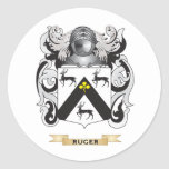 Ruger Coat of Arms (Family Crest) Round Stickers