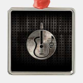Rugged Acoustic Guitar Christmas Ornament