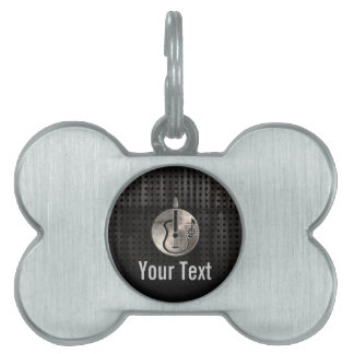Rugged Acoustic Guitar Pet ID Tag