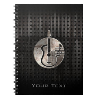 Rugged Acoustic Guitar Spiral Notebook