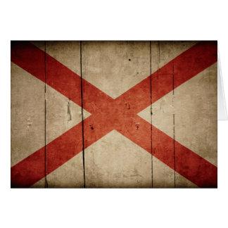 Rugged Alabama Flag Card